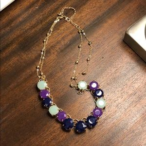 Jewelry - Navy, teal and purple bubble necklace